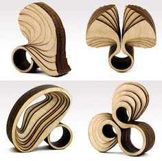 Anthony Roussel wood jewellery