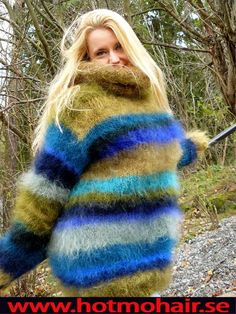 Gros Pull Mohair, Kitten Love, Mohair Sweater, Warm And Cozy, Turtle Neck, Sweaters, Cardigans, Wool, Womens Fashion