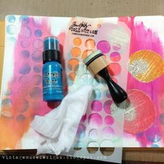 Vibrant art journal (3) by Bobbi Smith via Marjie Kemper's Weekly Tuesday's Tutorials Blog Series, Week 8