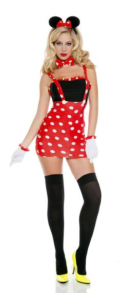 Sexy Darling Miss Minnie Mouse Halloween Costume - Mr. Costumes