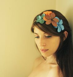 READY TO SHIP Floral Fascinator vintage flair by SchickiMickis, $50.00