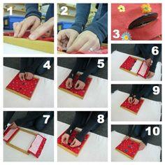 Montessori Practical Life: Button Frame