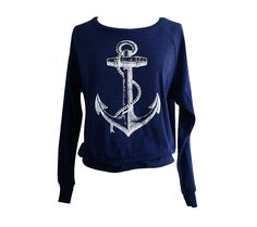 ANCHOR Raglan Sweatshirt  Nautical Sailor Sweater by friendlyoak, $25.00