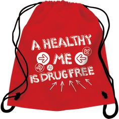 Sturdy, nylon backpack is the new favorite style for kids, and features a prominent anti-drug logo. Red Ribbon Week, Drawstring Backpack, Backpacks, Drawstring Backpack Tutorial, Women's Backpack, Backpack, Backpacking