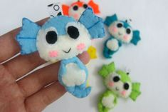Cute Sea Monster V1 Keychain/Ornament/Magnet  by araleling on Etsy, $9.00