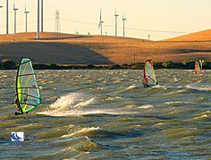 Trio of Windsurfers get serious wind!