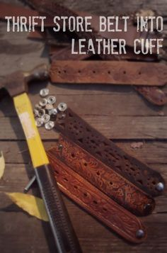 DIY Leather Bracelet - make these with my Grandpa's old belts.