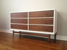 This listing is an example of some of the customization that can be offered. These pieces are refinished and originally manufactured in the 1950s & 60s