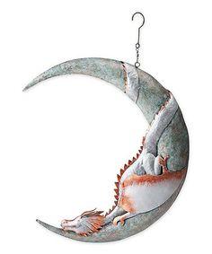 Dragon on Moon Hanging Décor #zulily #zulilyfinds
