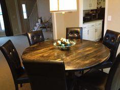 Round Farmhouse Table - Customizable