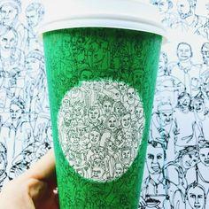 Starbucks mischt sich mit illustriertem Kaffeebecher in den Wahlkampf ein – Grafikdesigner Shogo Ota aus Seattle