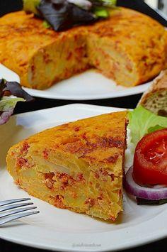Con sabor a canela: Tortilla con chorizo