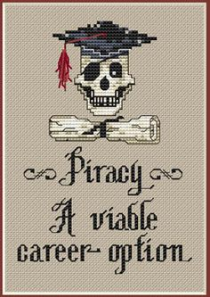 Piracy - Cross Stitch Pattern by Sue Hillis Designs