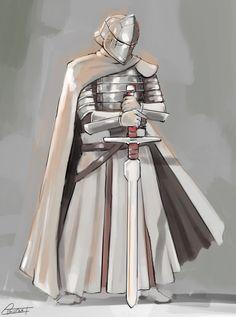 Fantasy costume designs by John Burns on ArtStation. Fantasy Male, Fantasy Armor, Medieval Fantasy, Fantasy Character Design, Character Concept, Knight Art, Star Wars Images, Fantasy Pictures, Fantasy Costumes