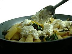 pasta with raping & ricotta