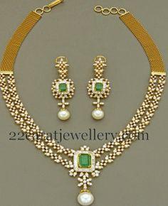 Jewellery Designs: Two Rows Diamond Masterpiece