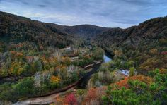 The Elk River, at Elkhurst, Clay County, West Virginia