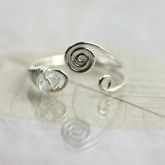 Wire Swirl Ring Elven Style  Sterling Silver by NanfanJewellery, £22.00