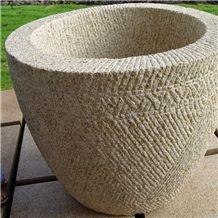 Golden Dune Granite 2 Point Stalk Finish Planter Pot