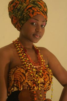 Beautiful African Head Wrap.