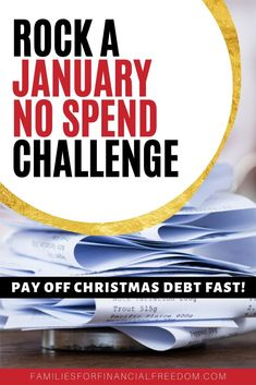 Learn how to rock a no spend January challenge to be able to save money fast or pay off debt! Start a no spend January challenge today! Best Money Saving Tips, Ways To Save Money, Saving Money, Money Tips, Money Plan, No Spend Challenge, Money Saving Challenge, Savings Challenge, Thing 1