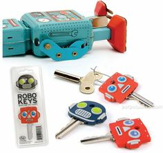 Love the robo key covers...love the stricken robot in the background even more...