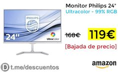 Monitor Philips 24 Ultracolor disponible por 119 - http://ift.tt/2xdx8gu