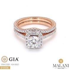 Rose Gold Engagement Rings for women carat t. diamond ring Gift Box Authenticity cards Riviera Shank (G, SI) (Ring Size – Fine Jewelry & Collectibles Jewelry Design Earrings, Gold Earrings Designs, Bracelet Designs, Diamond Jewelry, Diamond Solitaire Earrings, Diamond Rings, Solitaire Ring Designs, Gold Ring Designs, Indian Wedding Rings