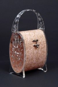 Pink Lucite bag by Florida Handbags. Dixon Gallery and Gardens, Memphis, Tennessee.