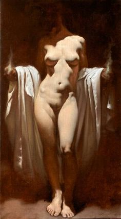 Roberto Ferri(1978~ an Italian artist and painter from Taranto, Italy, who is deeply inspired by Baroque painters (Caravaggio in particular) and other old masters of Romanticism, the Academy, and Symbolism)