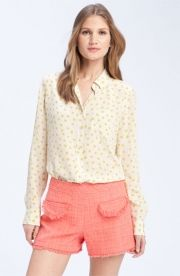 Equipment Equipment 'Brett' Print Silk Shirt Tapioca Medium - $248.00