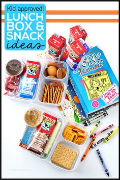 Kid approved lunch box and snack ideas - simple ideas to make kids lunches amazing! Teach them how to make their own too.