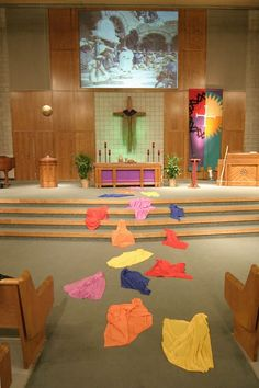 Palm Sunday idea for kid's worship area or hallway to preschool and elementary classes