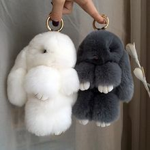 Magic World Real Rabbit Fur Bunny Keychain Key Chain Trinket Women Toy Doll Pom Pom Key Ring For Bag Car Jewelry Gift Llavero Girly Things, Cool Things To Buy, Fluffy Phone Cases, Accessoires Iphone, Cute School Supplies, Cute Keychain, Key Keychain, Accesorios Casual, New Year Gifts