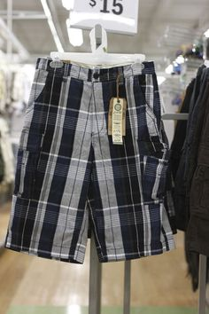 Black Plaid Shorts (available only in stores)      Click image to see weekly ad #MeijerKidsLooks #BacktoSchool
