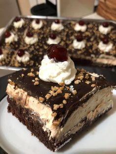 Greek Sweets, Greek Desserts, Greek Recipes, Desert Recipes, Sweets Recipes, Cake Recipes, Cooking Recipes, Chocolate Caramel Cake, Quick Cake