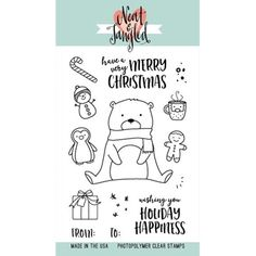 Neat and Tangled BEARY MERRY Clear Stamp Set