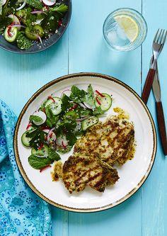 Pan-Seared Tilapia with Chermoula & Cucumber-Blood Orange Salad. http ...