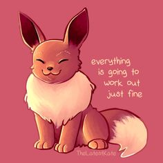Artist 'The Latest Kate' Creates Comics For People With Anxiety - My best shares Inspirational Animal Quotes, Cute Animal Quotes, Uplifting Quotes, Cute Quotes, Happy Quotes, Cute Animals, Cute Animal Drawings, Cute Drawings, Pokemon Eevee