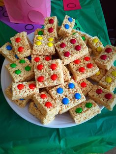 Lego Party! Krispie Treats, Rice Krispies, Marshmallow Cereal, Cereal Treats, Gingerbread, Lego, Party, Desserts, Diy
