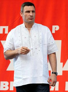 Vitalij Klitchko wearing embroidery, from Iryna with love