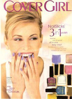 1998 Cover Girl Cosmetics Niki Taylor Print Ad Vintage Advertisement VTG 90s | eBay