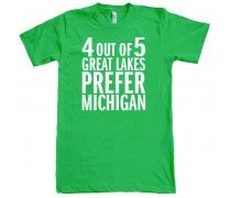 4 out of 5 Great Lakes T-Shirt