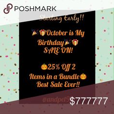 Dropped the % to 30% Off 2+ Bundles🎈October Sale New Items Just Added For MY October Birthday Sale!! 30% OFF 2+ Bundle Items! Taking off 5% More!! Until Oct, 31ST. I already have LOW Prices, so No offers please(if listing says FIRM). Thanks so much for all your support and business! 🌻Andreas Closet Boutiques ! Andreas Closet Boutiques Jewelry