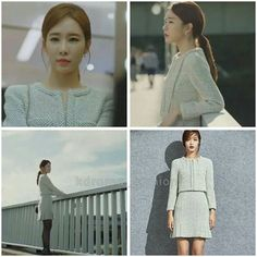 Yoo In Na AvouAvou ivory tweed jacket and dress Yoo In Na Fashion, Korea Fashion, Sunny Goblin, Lawyer Outfit, International Style, Wardrobe Basics, Korean Outfits, Work Casual, Kdrama