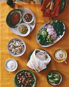 Celebrate Cinco de Mayo with a delicious taco bar.