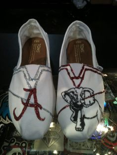 University of Alabama Customized TOMS...so where can I get these?