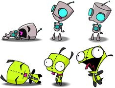 Gir from invader Zim. One of the cutest robots of all time :). Invader Zim Characters, Cartoon Characters, Cartoon Gifs, Cute Cartoon, Cartoon Network, Storyboard, Gir From Invader Zim, Johnny The Homicidal Maniac, Nickelodeon