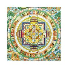 1000 piece jigsaw puzzle featuring a bright design inspired by meditiation. Square shaped puzzle. Released August 2013.