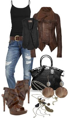 LOLO Moda: Gorgeous women's fashion - trends 2013   I wonder if my girls would object to brown  black together like this?